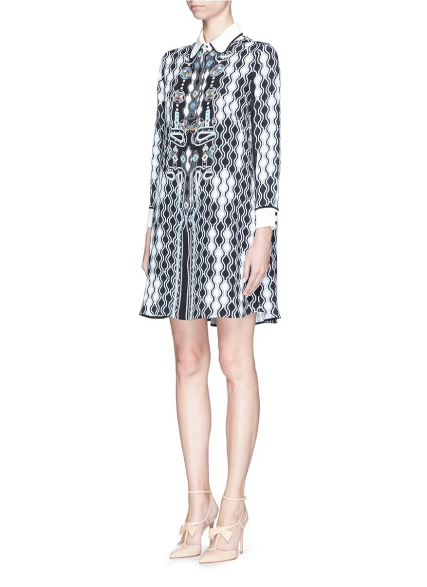 Peter Pilotto Digital Pinball Print SIlk Dress