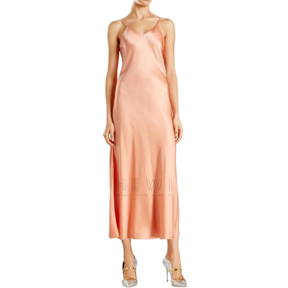 Racil Peach Geiko Silk Slip Dress