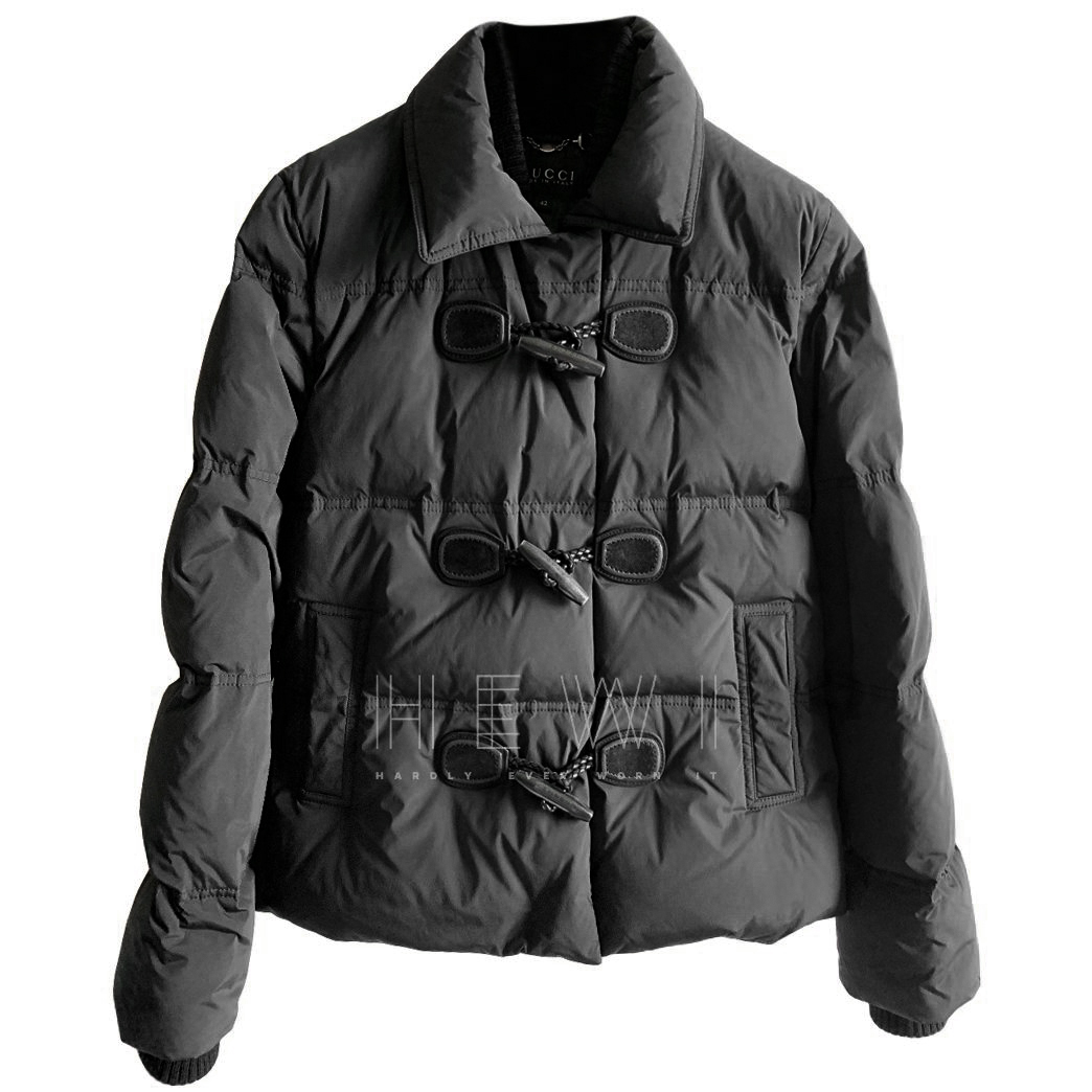 Gucci Black Double Layered Puffer Coat