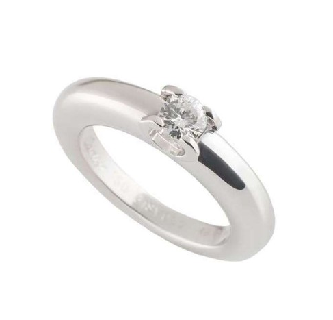 Cartier White Gold Diamond Solitaire Ring