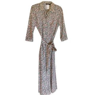 Max Mara Crepe De Chine Printed Shirt Dress, UK 12 new unworn