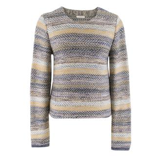 Chloe Striped Knit Wool Jumper