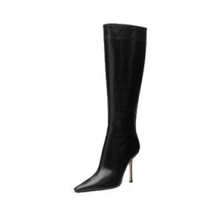Jimmy Choo Orchid Leather Knee High Boots