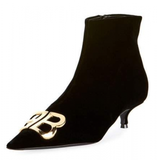 Balenciaga Velvet BB ankle boots - New Season
