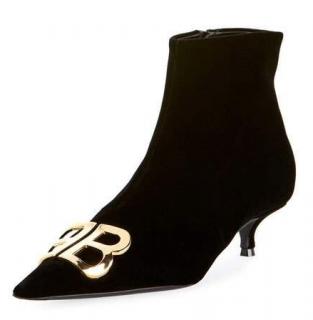 Balenciaga Velvet BB ankle boots - New Season