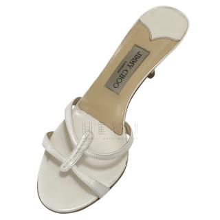 Jimmy Choo White Page Sandals