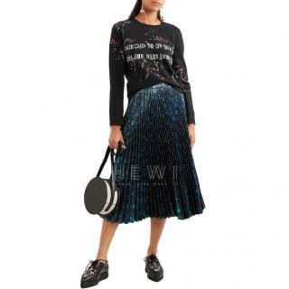 Valentino Beaded Intarsia Cashmere Wool-blend Sweater - New Season