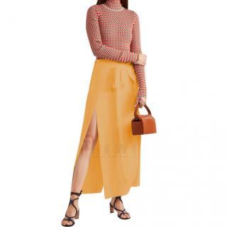 Sonia Rykiel Yellow Wrap Midi Skirt - New Season