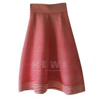 Sonia Rykiel Striped A-Line Midi Skirt
