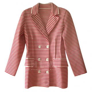 Sonia Rykiel Red & White Striped Double Breasted Jacket