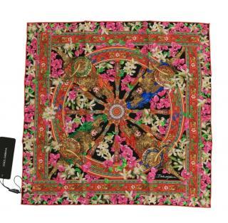 Dolce & Gabbana Floral Carretto Print Foulard Scarf