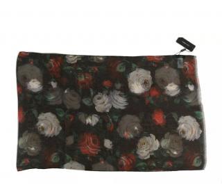 Dolce & Gabbana Rose Print Silk Wrap Scarf