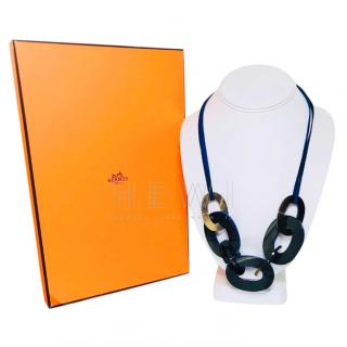 Hermes Karamba Horn Lacquered Necklace
