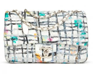 Chanel Painted Graffiti Print Flap Bag