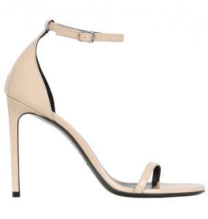 Saint Laurent Nude Patent Leather Jane 110mm Sandals