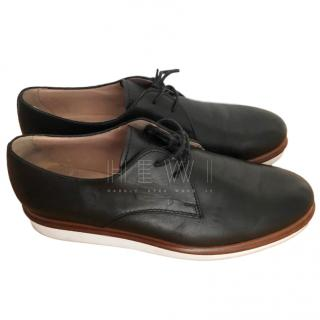 Tod's Black Rubber Sole Brogues