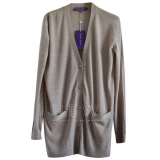Ralph Lauren truffle cashmere cardigan