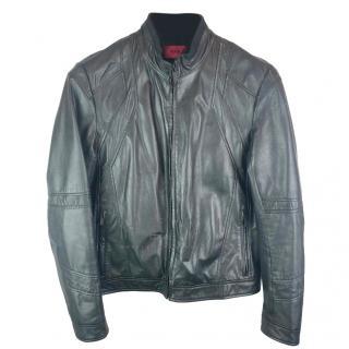 Hugo Boss bovine leather biker jacket