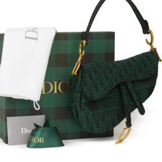 Christian Dior Oblique canvas Saddle Bag
