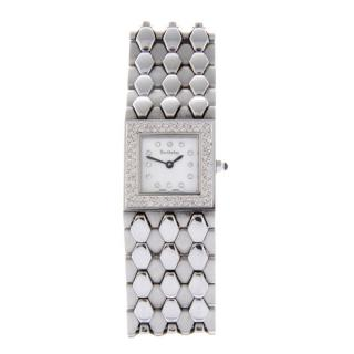 Barthelay Les Sloanes stainless steel/mother of pearl/diamond watch
