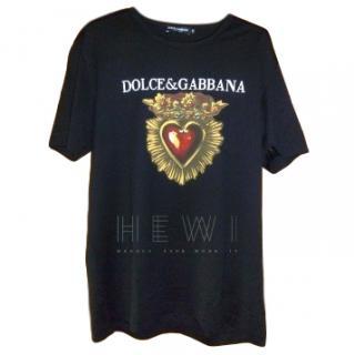 Dolce & Gabbana black Sacred Heart t shirt