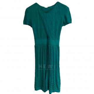 M Missoni Turquoise Knit Dress