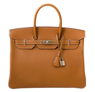 Hermes Caramel Epsom Leather 35cm Birkin