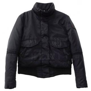 Peuterey black goose down bomber jacket