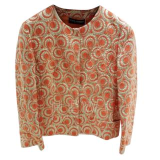Dolce & Gabbana orange & gold brocade short jacket