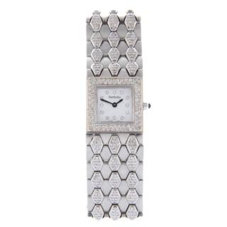 Alexis Barthelay steel and diamond Les Sloanes Collection watch