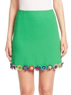 Mary Katrantzou Clovis Guipure-Lace Wool-Crepe Mini Skirt