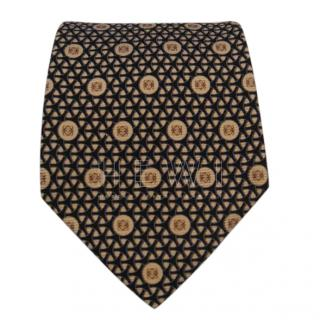 Loewe black and gold silk tie