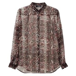 The Kooples Snake Print Blouse