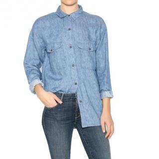 Sessun Morrison Blue Linen Shirt
