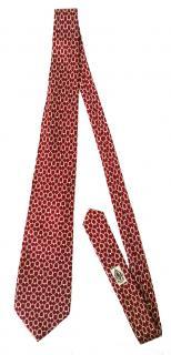 Gucci Vintage Red SIlk Printed Tie