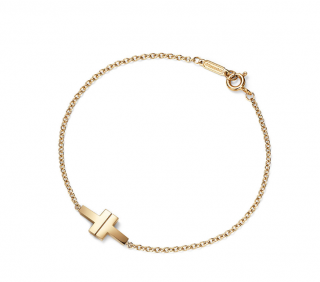 Tiffany & Co T yellow gold bracelet
