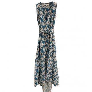 Borgo De Nor Sleeveless Blue Floral Dress