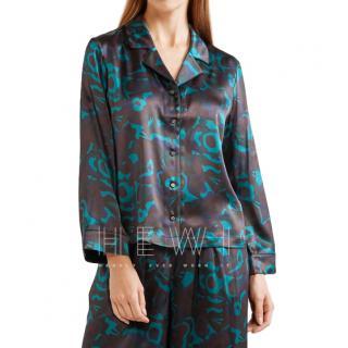 Eres Beryl floral-print silk-satin pajama top