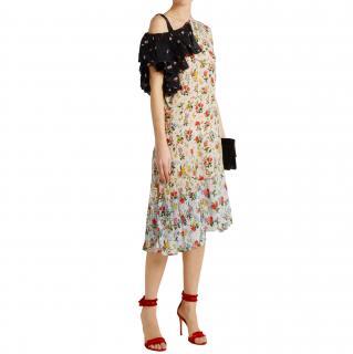 Preen Line Jacqui asymmetric floral-print crepe dress