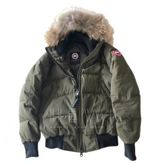 Canada Goose Womens Savona Bomber in military green