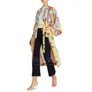 Stine Goya Nat Floral Wallpaper Kimono-Style Silk-Blend Robe