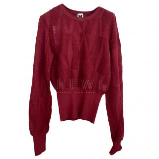 M Missoni Burgundy Knit Jumper
