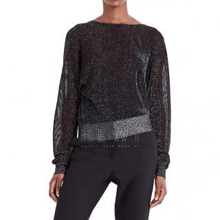Maje Manon metallic-knit jumper