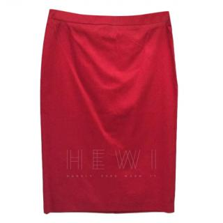Love Moschino Red Fitted Skirt