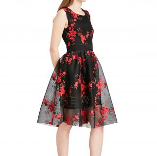 Maje Rudio Embroidered tulle dress