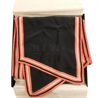 Chanel Silk & Wool Blend Scarf