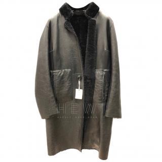 Hugenberg Reversible Shearling & Leather Coat