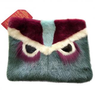 Bespoke Mink Fur Eyes Clutch