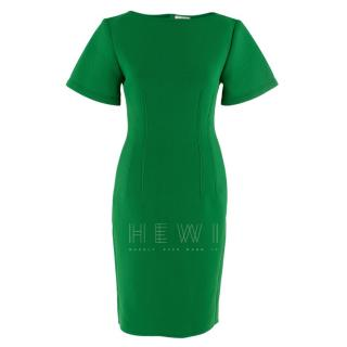 Lanvin Green Fitted Mesh Dress