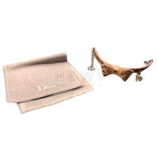 Dior Leather Bow Charm Bracelet
